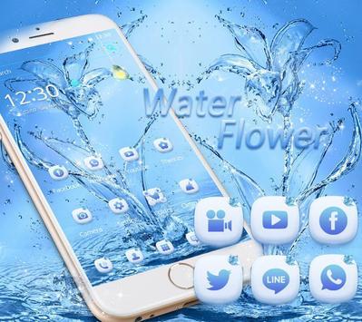 Water flower Theme blue water apk screenshot