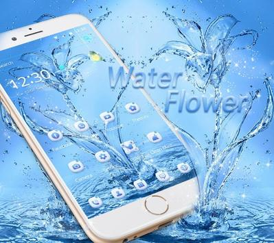 Water flower Theme blue water poster