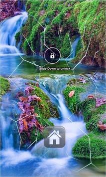 Waterfall Lock Screen poster