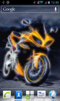 Futuristic Motorbike a live poster