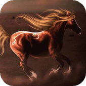 Horse in s Desert a live icon