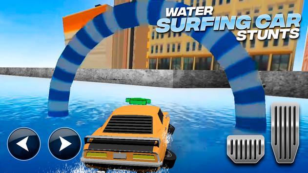 Water Surfing Car Stunts تصوير الشاشة 7