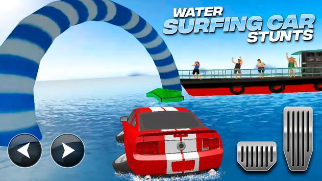 Water Surfing Car Stunts الملصق
