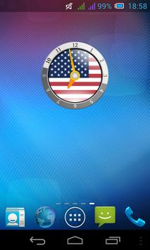 Flag Clock - Widget HD poster