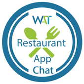 Restaurant Demo app with chat icon