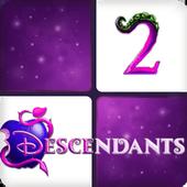 Descendants 2 Piano Tiles icon