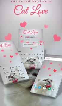 Cat Love Animated Keyboard poster