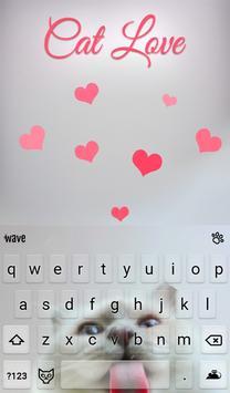 Cat Love Animated Keyboard screenshot 1
