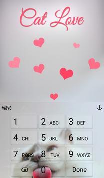 Cat Love Animated Keyboard apk screenshot
