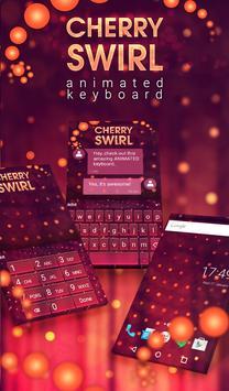 Cherry Swirl Animated Keyboard poster