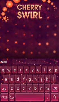 Cherry Swirl Animated Keyboard apk screenshot