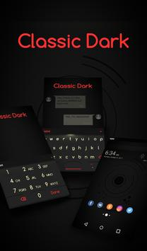 Classic Dark Animated Keyboard + Live Wallpaper poster