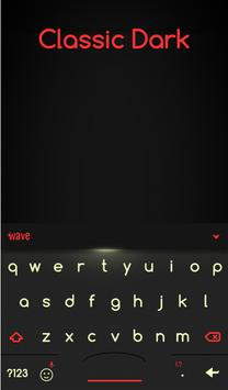 Classic Dark Animated Keyboard + Live Wallpaper screenshot 1