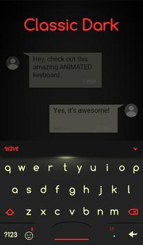 Classic Dark Animated Keyboard + Live Wallpaper screenshot 2