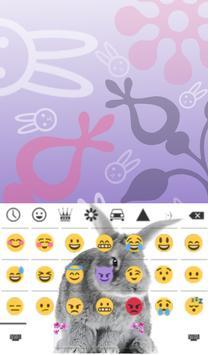 Cute Bunny Animated Keyboard apk screenshot