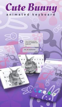 Cute Bunny Animated Keyboard poster
