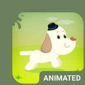 Cute Dog Animated Keyboard icon