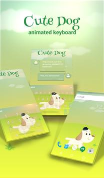 Cute Dog Animated Keyboard poster