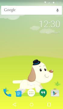 Cute Dog Animated Keyboard apk screenshot