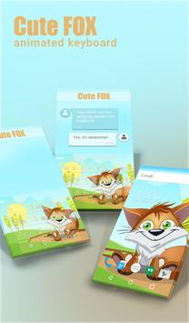 Cute Fox Animated Keyboard poster