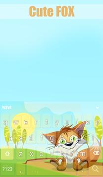 Cute Fox Animated Keyboard apk screenshot