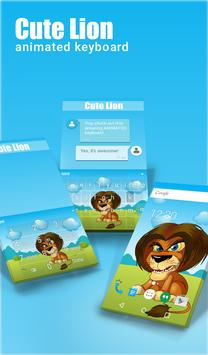 Cute Lion Animated Keyboard poster