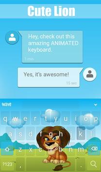 Cute Lion Animated Keyboard apk screenshot