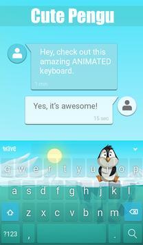 Cute Pengu Animated Keyboard apk screenshot