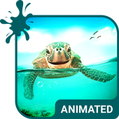 Cute Turtle Animated Keyboard icon