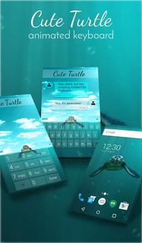 Cute Turtle Animated Keyboard poster