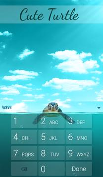 Cute Turtle Animated Keyboard apk screenshot