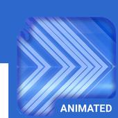 Blue Arrows Animated Keyboard icon