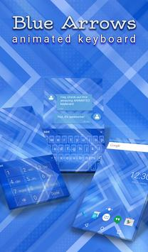 Blue Arrows Animated Keyboard poster