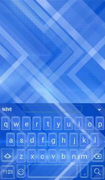 Blue Arrows Animated Keyboard apk screenshot