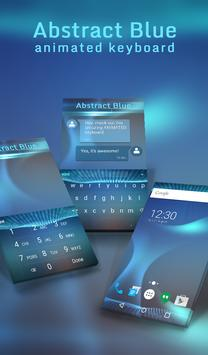 Abstract Blue Animated Keyboard poster