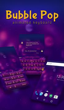 Bubble Pop Animated Keyboard poster