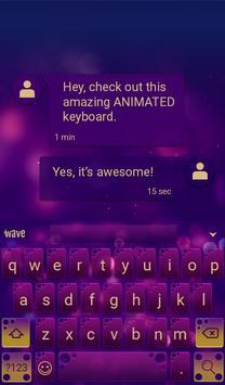 Bubble Pop Animated Keyboard apk screenshot