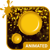 Golden Rain Animated Keyboard icon