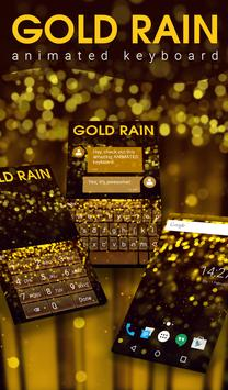 Gold Rain Animated Keyboard poster