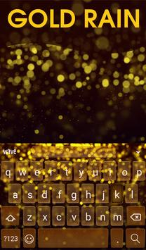 Golden Rain Animated Keyboard apk screenshot