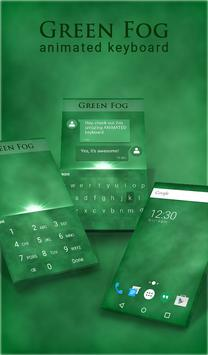 Green Fog Animated Keyboard poster