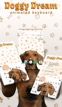 Doggy Dream Animated Keyboard poster