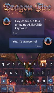Dragon Fire Animated Keyboard screenshot 2