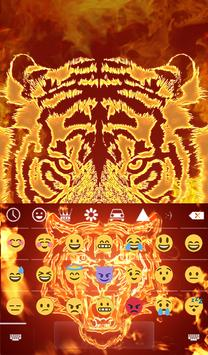 Fire Tiger Animated Keyboard apk screenshot