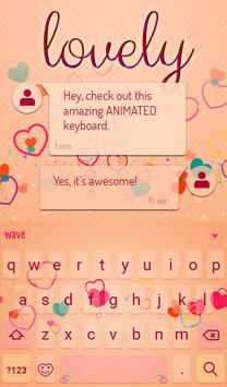 Lovely Animated Keyboard apk screenshot
