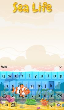 Sea Life Animated Keyboard apk screenshot