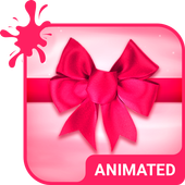Silky Pink Animated Keyboard icon