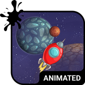 Space Travel Animated Keyboard icon