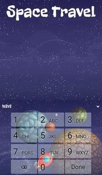 Space Travel Animated Keyboard apk screenshot