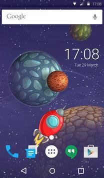 Space Travel Animated Keyboard screenshot 5